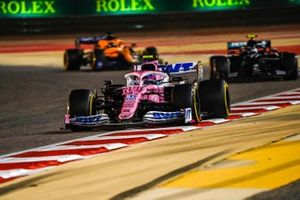 Lance Stroll, Racing Point RP20, Valtteri Bottas, Mercedes F1 W11, and Carlos Sainz Jr., McLaren MCL35