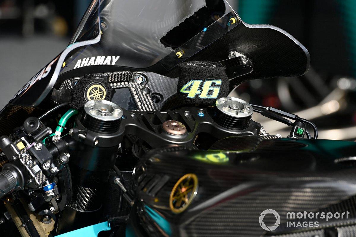 Detalle de la moto de Valentino Rossi, Petronas Yamaha SRT