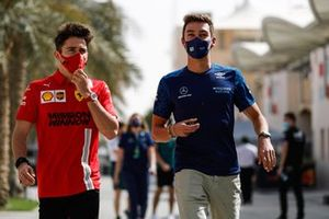 Charles Leclerc, Ferrari, and George Russell, Williams