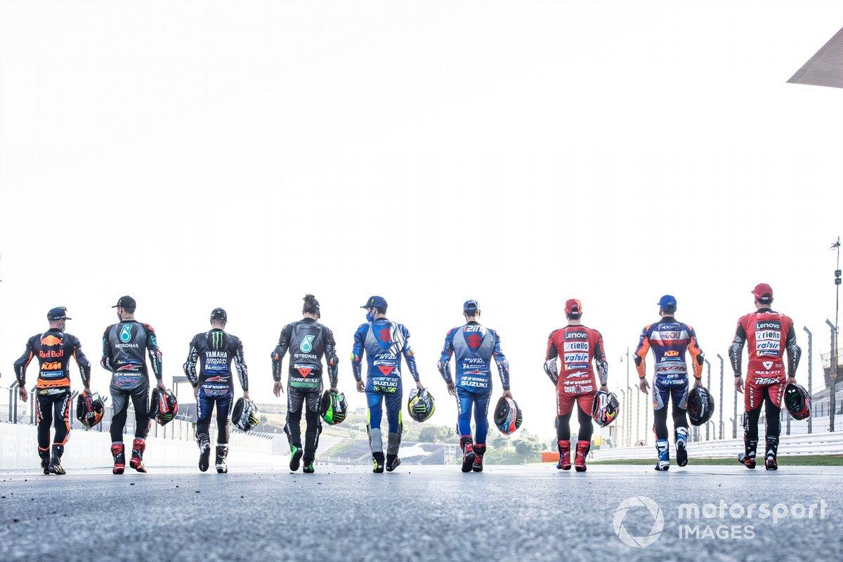Los pilotos de MotoGP 2020