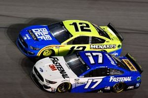 Chris Buescher, Roush Fenway Racing, Ford Mustang Fastenal Ryan Blaney, Team Penske, Ford Mustang Menards/Blue DEF/PEAK