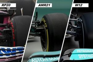 Racing RP20, Aston Martin Racing AMR21, Mercedes AMG F1 W12, front brake duct
