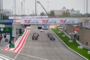 Callum Ilott, UNI-Virtuosi, Felipe Drugovich, MP Motorsport, Guanyu Zhou, UNI-Virtuosi and Marcus Armstrong, ART Grand Prix