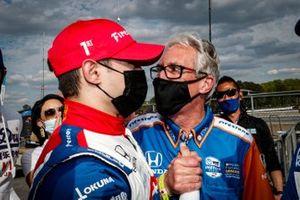 Alex Palou, Chip Ganassi Racing Honda, podium, Michael Cannon