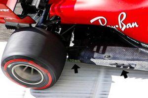 Charles Leclerc, Ferrari SF1000 floor detail