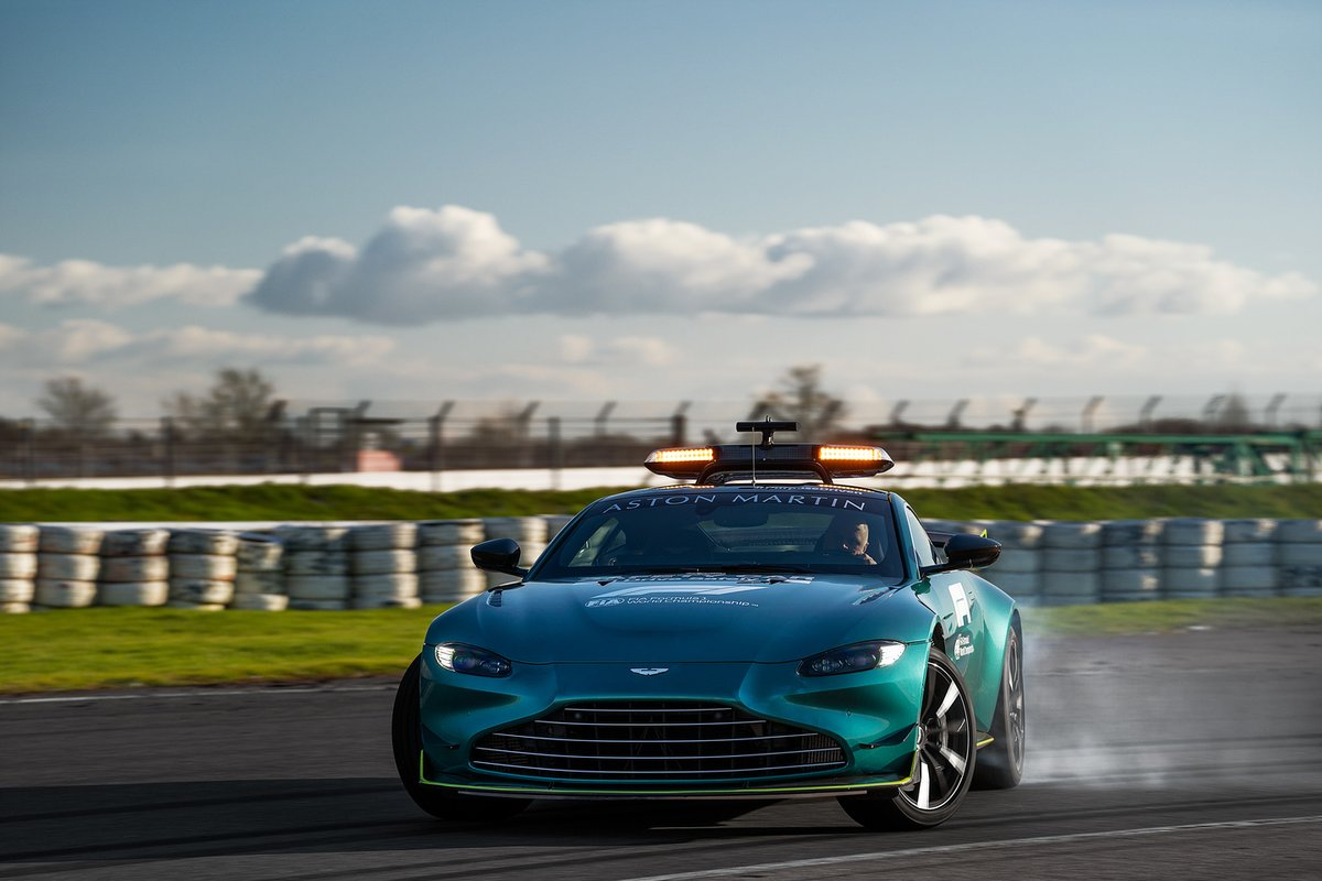 La safety car ufficiale dell'Aston Martin in Formula 1