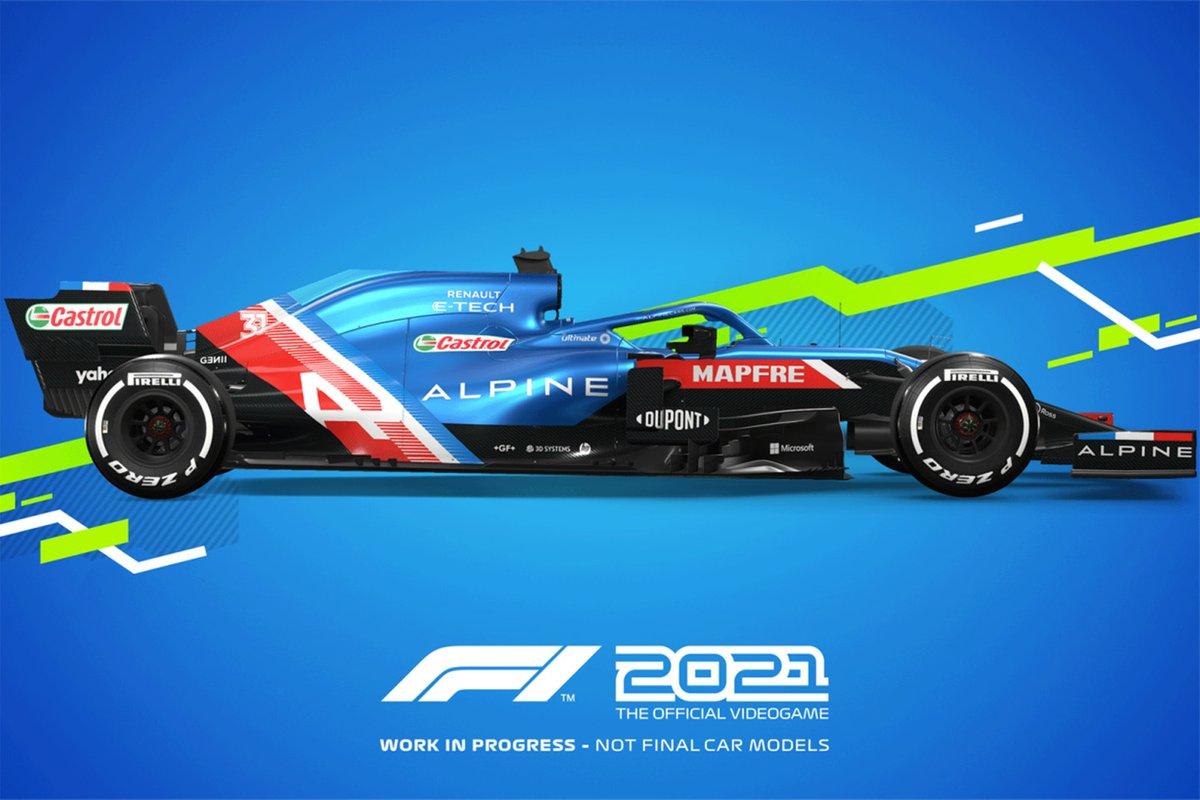 Decoración F1 2021 Alpine