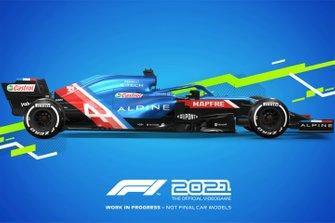 F1 2021 Alpine livery