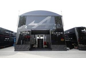 Alpine F1 motorhome in the paddock