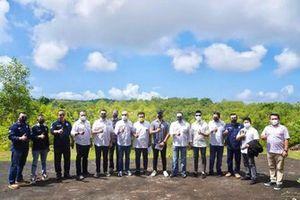Ketua Umum Ikatan Motor Indonesia (IMI), Bambang Soesatyo, meninjau lokasi Bali Pecatu International Circuit