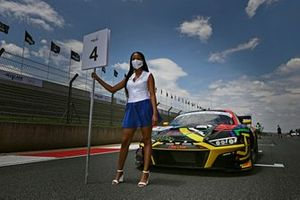 Grid girl of #44 Audi Sport Team Car Collection Audi R8 LMS GT3: Mattia Drudi, Patric Niederhauser, Christopher Haase