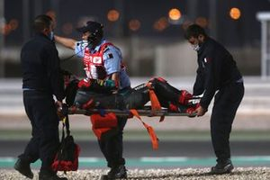 Jake Dixon, Petronas Sprinta Racing, après son accident au GP de Doha