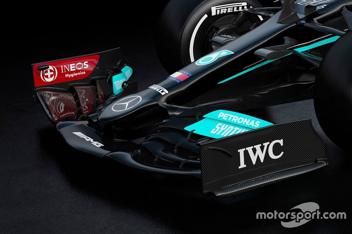 Mercedes AMG F1 W12 front wing detail
