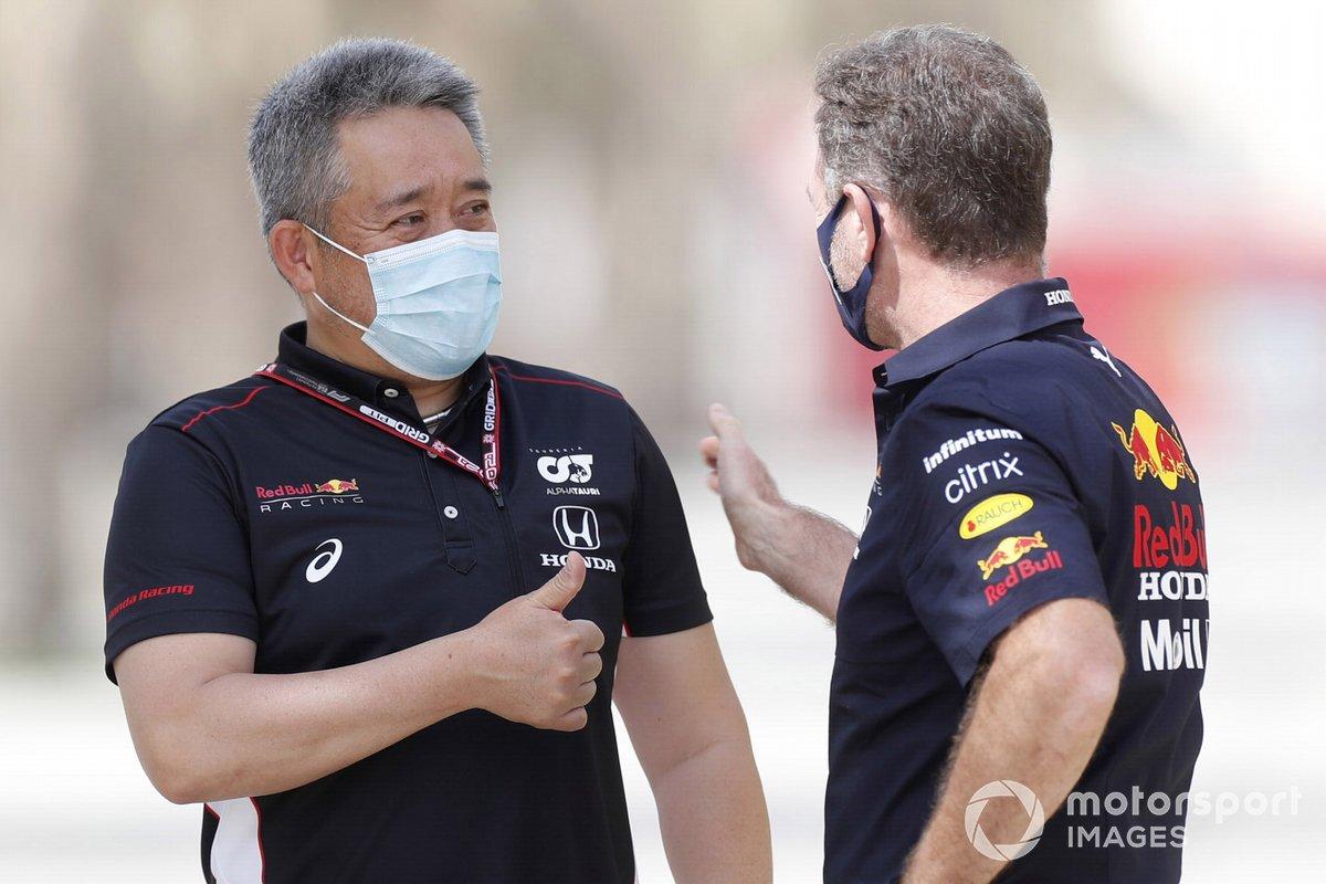 Масаши Ямамото, Honda Motorsport, и Кристиан Хорнер, Red Bull Racing