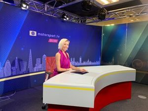 Rachael Downie joins as one of the four main presenters of Motorsport.tv Live news channel.