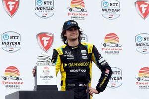 Colton Herta, Andretti Autosport Honda celebrates victory lane