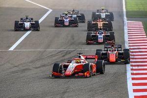 Mick Schumacher, Prema Racing leads Giuliano Alesi, MP Motorsport and Roy Nissany, Trident