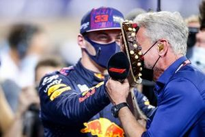 Polesitter Max Verstappen, Red Bull Racing with David Coulthard