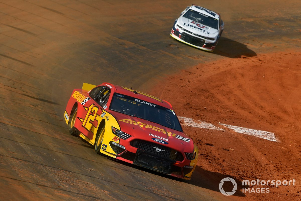 Ryan Blaney, Team Penske, Ford Mustang Advance My Track Challenge