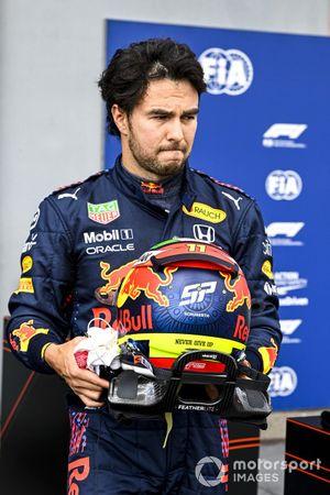 Sergio Pérez, Red Bull Racing en Parc Ferme