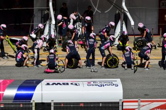 The Racing Point pit crew