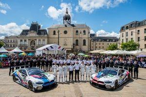 #82 BMW Team MTEK BMW M8 GTE: Antonio Felix da Costa, Augusto Farfus, Jesse Krohn; #81 BMW Team MTEK BMW M8 GTE: Martin Tomczyk, Nicky Catsburg, Philipp Eng