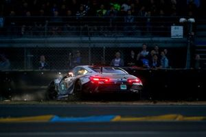 Accidente del #81 BMW Team MTEK BMW M8 GTE: Martin Tomczyk, Nicky Catsburg, Philipp Eng