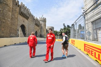 Mattia Binotto, Team Principal Ferrari walks the track