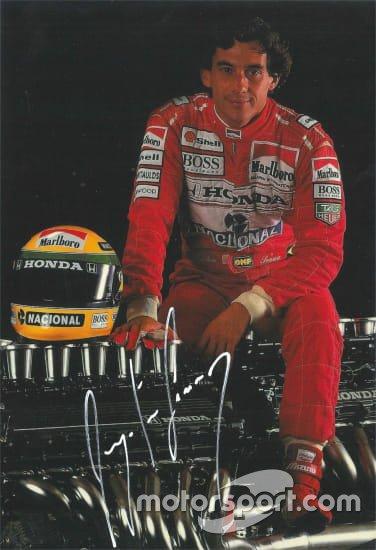 Autógrafo de Ayrton Senna