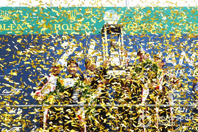 #7 Toyota Gazoo Racing Toyota TS050: Mike Conway, Jose Maria Lopez, Kamui Kobayashi and #8 Toyota Gazoo Racing Toyota TS050: Sébastien Buemi, Kazuki Nakajima, Fernando Alonso
