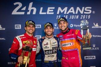 Daniel Serra, André Negrão e Felipe Fraga, vencedores das 24 Horas de Le Mans