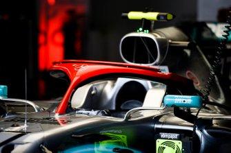 Rode Halo op de Mercedes AMG F1 W10