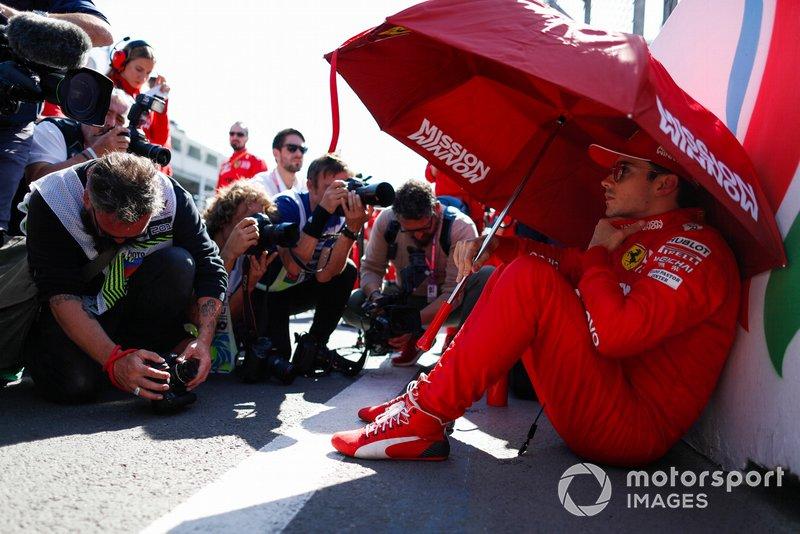 Charles Leclerc, Ferrari, in griglia