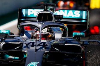 Lewis Hamilton, Mercedes AMG F1 W10 drives into Parc Ferme
