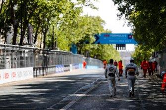 Sam Bird, Envision Virgin Racing, Lucas Di Grassi, Audi Sport ABT Schaeffler, head to the grid