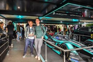 Fans beside a Panasonic Jaguar Racing Jaguar I-Type 3