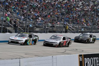 Justin Haley, Kaulig Racing, Chevrolet Camaro LeafFilter Gutter Protection, Noah Gragson, JR Motorsports, Chevrolet Camaro Switch and Riley Herbst, Joe Gibbs Racing, Toyota Supra Monster Energy