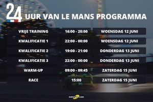 Programma 24 uur van Le Mans 2019