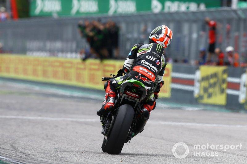 Il vincitore Jonathan Rea, Kawasaki Racing Team