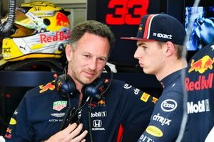 Christian Horner, Team Principal, Red Bull Racing, with Max Verstappen, Red Bull Racing