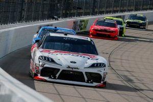 Harrison Burton, Joe Gibbs Racing, Toyota Supra Dex Imaging and John Hunter Nemechek, GMS Racing, Chevrolet Camaro Allegiant