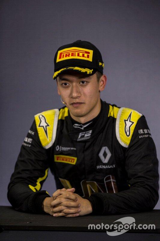 Third place Guanyu Zhou, Uni Virtuosi Racing in press conference