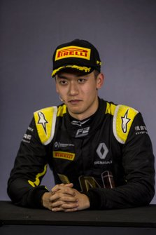 Third place Guanyu Zhou, Uni Virtuosi Racing in press conference