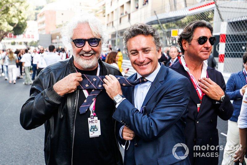 Alejandro Agag, CEO, Formula E, con Flavio Briatore