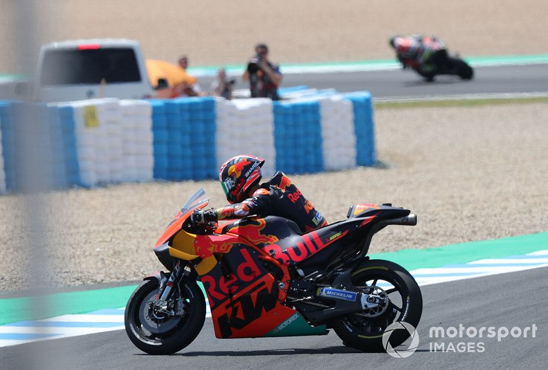 Johann Zarco, Red Bull KTM Factory Racing after crash