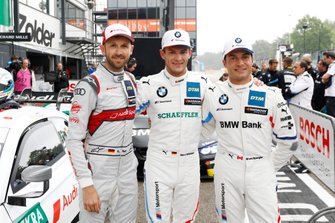 Top 3 after Qualfying: Pole sitter Marco Wittmann, BMW Team RMG, René Rast, Audi Sport Team Rosberg, Bruno Spengler, BMW Team RMG