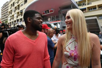 Ice Hockey player P.K. Subban on the grid with his partner Lyndsey Vonn
