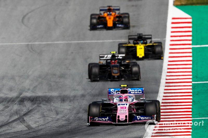 Lance Stroll, Racing Point RP19, Kevin Magnussen, Haas F1 Team VF-19, Daniel Ricciardo, Renault F1 Team R.S.19, Carlos Sainz Jr., McLaren MCL34