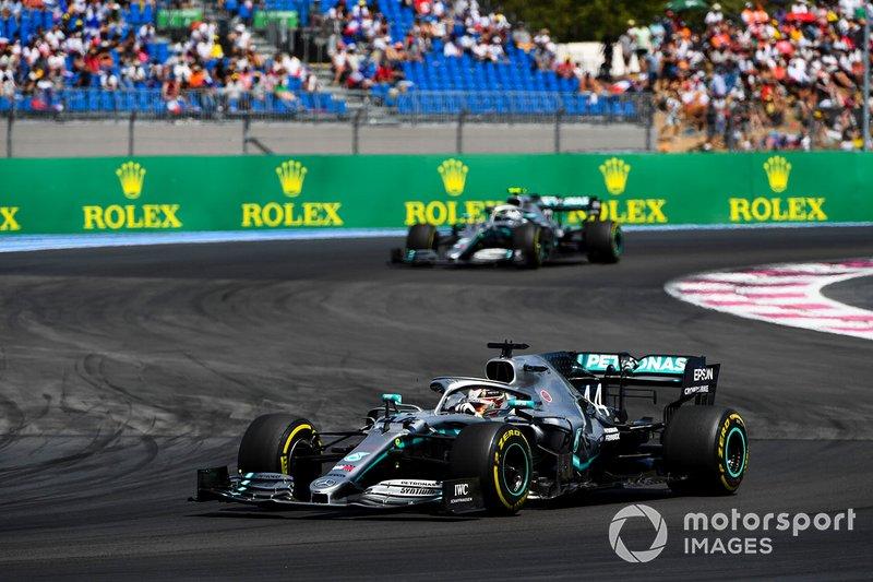 Lewis Hamilton sempre esteve à frente de seu companheiro de equipe.