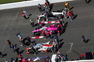 Conor Daly, Ed Carpenter Racing Chevrolet, Jack Harvey, Meyer Shank Racing Honda, Josef Newgarden, Team Penske Chevrolet
